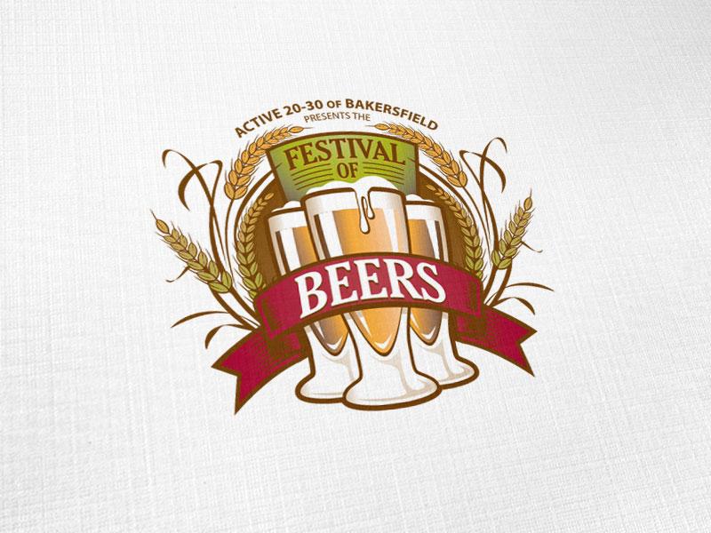 Bakersfield Festival of Beers Logo Design
