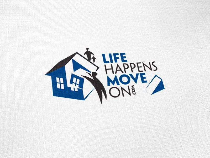 Life Happens Move On Logo Design