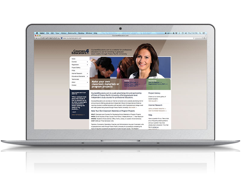 Courses 4 Educators Web Design
