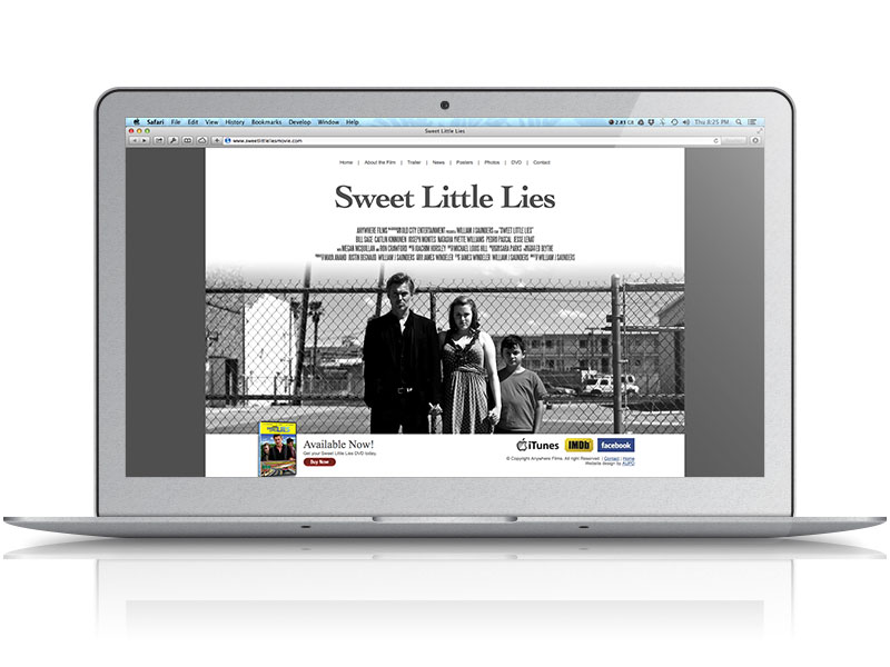 Sweet Little Lies Movie Web Design