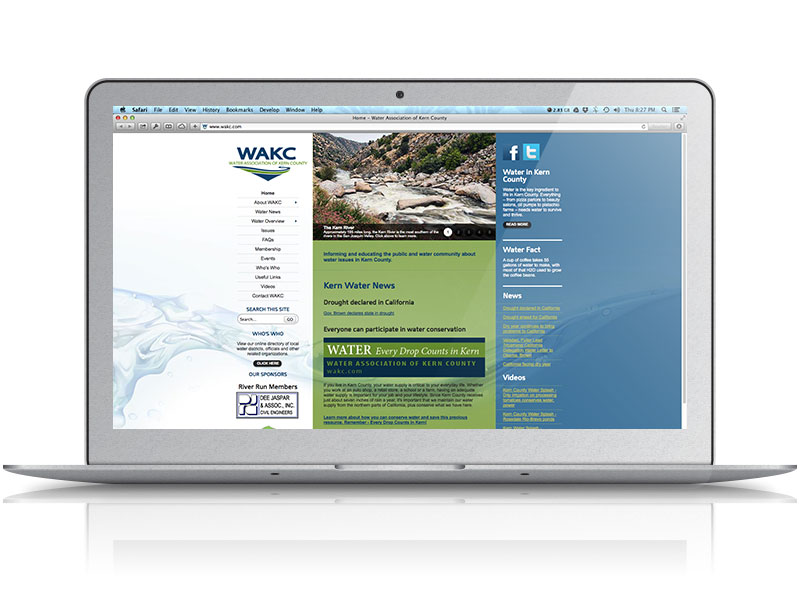 Water Association of Kern County Web Design