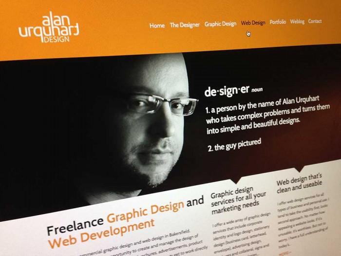 Alan Urquhart Design Website