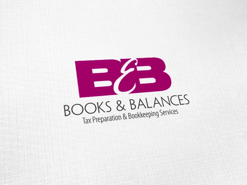 Books and Balances Logo Design