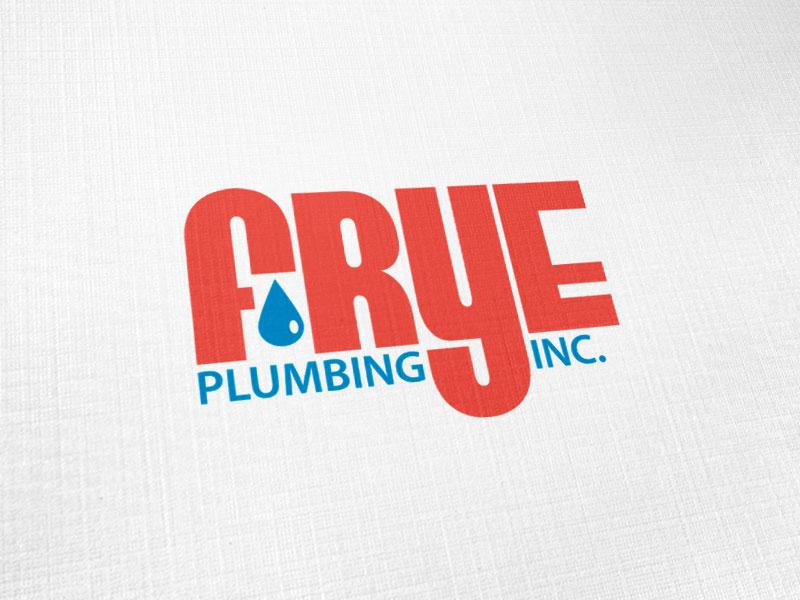 Frye Plumbing Logo Design