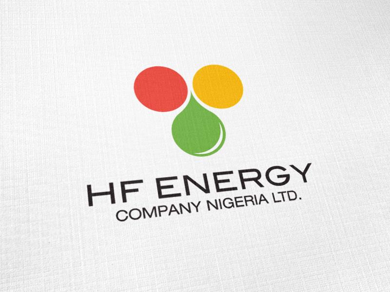 HF Energy Company Nigeria Logo Design