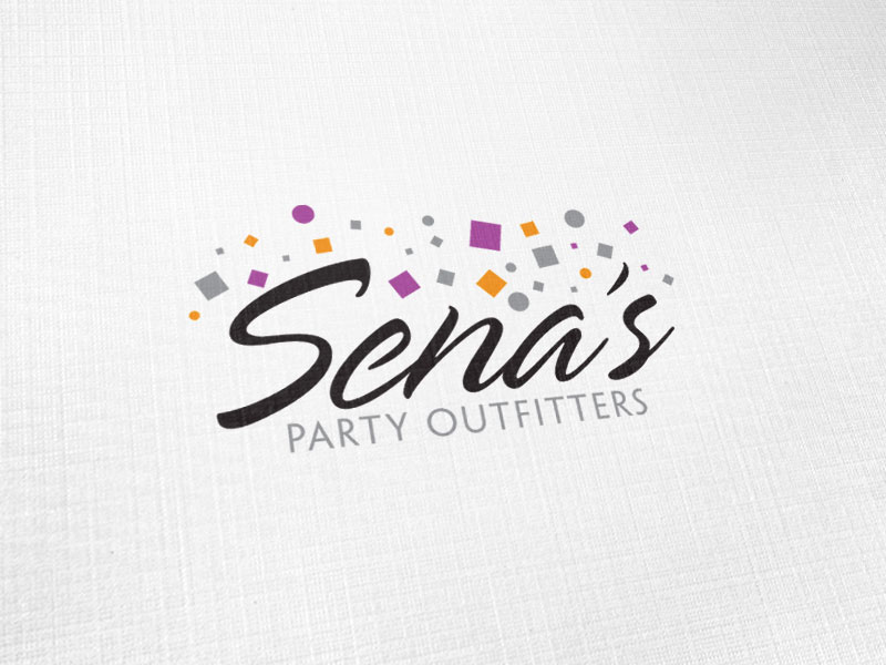 Sena's Party Outfitters Logo Design