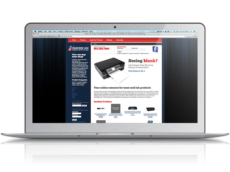 American Toner Recycling Web Design