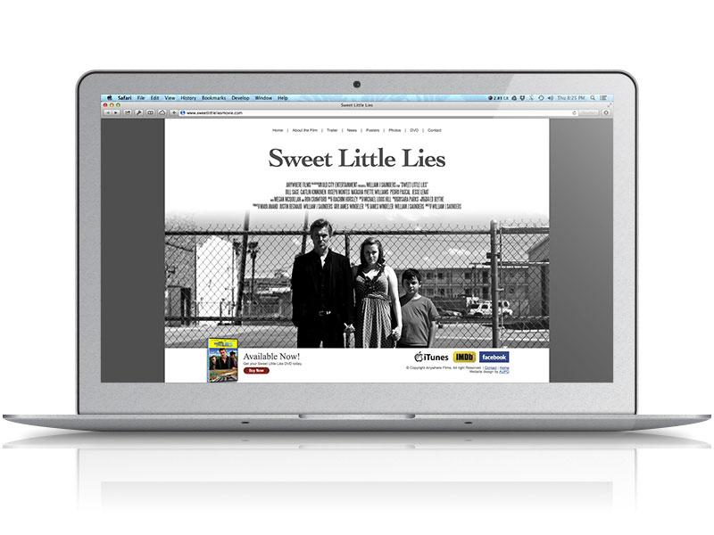 Sweet Little Lies Movie Web Design
