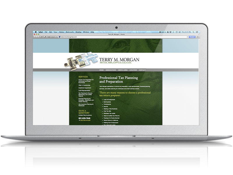 Terry Morgan Tax Web Design
