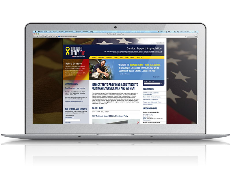 Wounded Heroes Fund Web Design