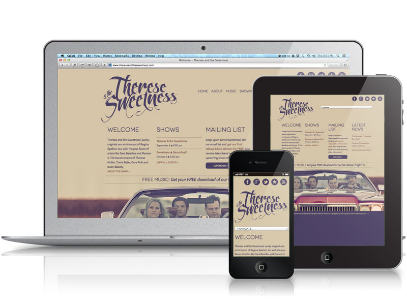 Therese and the Sweetness Web Design